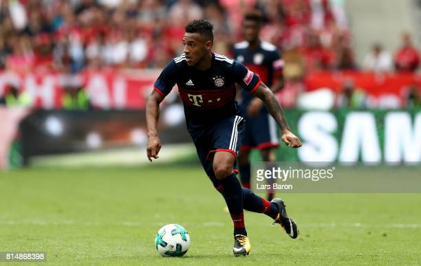 Corentin Tolisso of Muenchen runs with the ball during the Telekom Cup 2017 match between Bayern Muenchen and 1899 Hoffenheim at on July 15 2017 in...