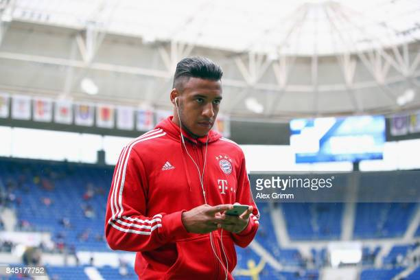 Corentin Tolisso of Muenchen walks off the pitch prior to the Bundesliga match between TSG 1899 Hoffenheim and FC Bayern Muenchen at Wirsol...