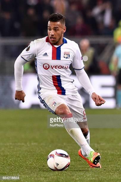 Corentin Tolisso of Olympique Lyonnais during the UEFA Europa League match between Roma and Olympique Lyonnais at Stadio Olimpico Rome Italy on 16...