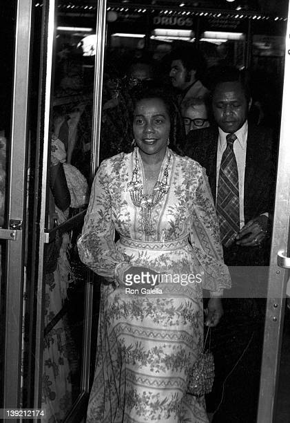 Coretta Scott King attends the premiere of 'Uptown Saturday Night' on June 15 1974 at the Criterian Theatre in New York City