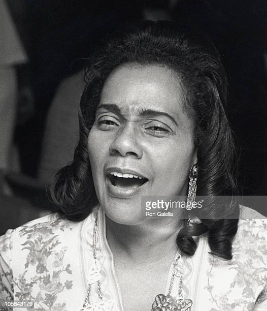 Coretta Scott King during 'Uptown Saturday Night' New York City Premiere at Criterion Theater in New York City New York United States