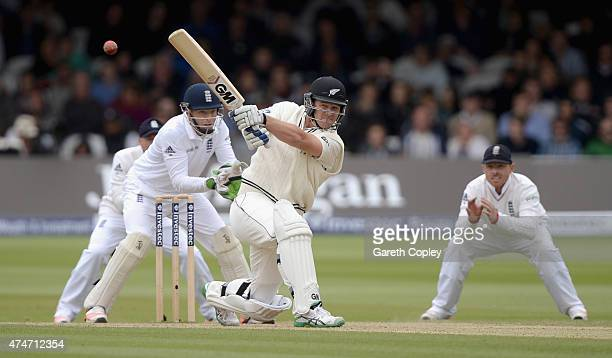 Corey Anderson of New Zealand bats during day five of 1st Investec Test match between England and New Zealand at Lord's Cricket Ground on May 25 2015...