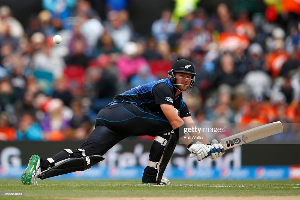 <a gi-track='captionPersonalityLinkClicked' href=/galleries/search?phrase=Corey+Anderson+-+Cricketspeler&family=editorial&specificpeople=12457249 ng-click='$event.stopPropagation()'>Corey Anderson</a> of New Zealand bats during the 2015 ICC Cricket World Cup match between Sri Lanka and New Zealand at Hagley Oval on February 14, 2015 in Christchurch, New Zealand.