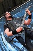Corey Beaulieu from Trivium performs at Columbus Crew Stadium on May 18 2014 in Columbus Ohio