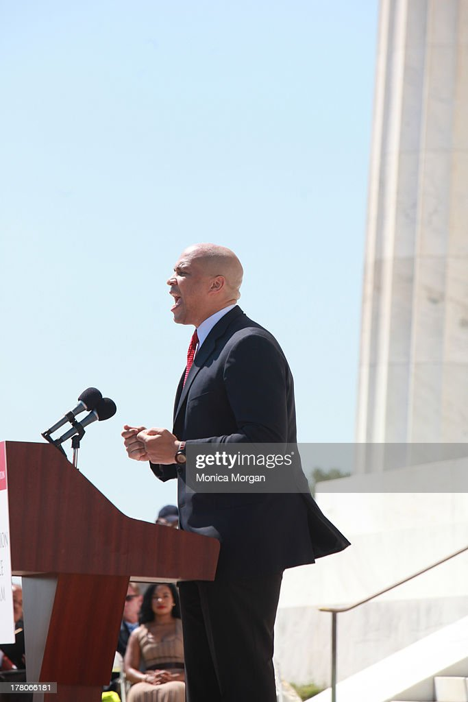 Corey Booker attends the 50th Anniversary Of Martin Luther King's March On Washington on August 24, 2013 in Washington, DC.