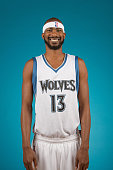Corey Brewer of the Minnesota Timberwolves poses for a portrait during 2014 NBA Media Day on September 29 2014 at the Minnesota Timberwolves and Lynx...
