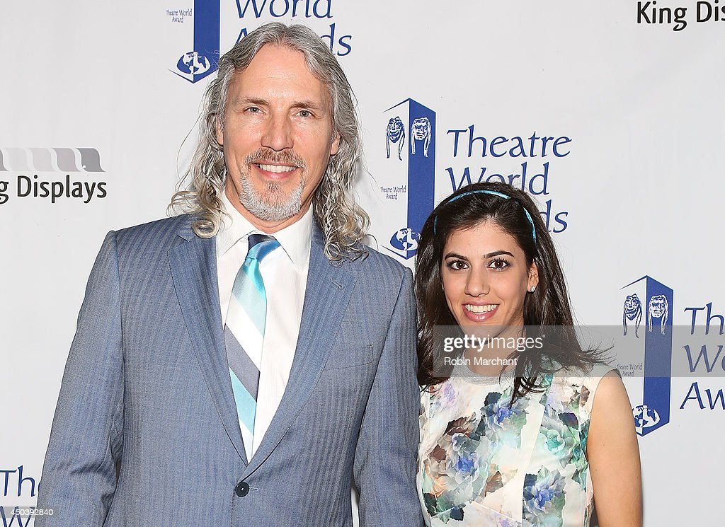Corey Brunish and Jessica Rosenfeld attend the 2014 Theatre World Awards ceremony at Circle in the Square on June 2, 2014 in New York City.