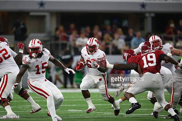 Corey Clement of the Wisconsin Badgers during the Advocare Classic at ATT Stadium on September 5 2015 in Arlington Texas