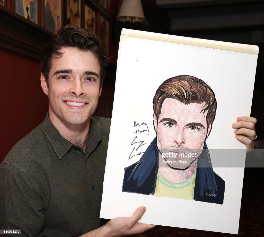 "Broadway's ""Bandstand"" Star Corey Cott Unveils His Sardi's Portrait"