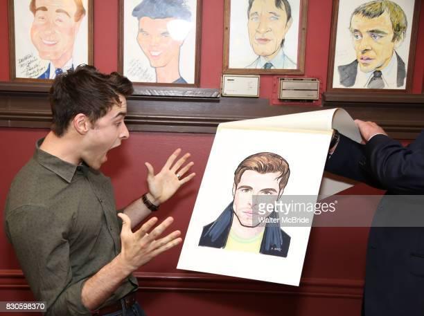 Corey Cott during the Corey Cott Sardi's Portrait unveiling at Sardi's Restaurant on August 11 2017 in New York City