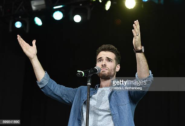 Corey Cott performs during the 2nd Annual Elsie Fest at Ford Amphitheater at Coney Island Boardwalk on September 5 2016 in Brooklyn New York