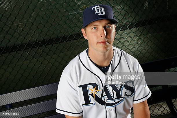 Corey Dickerson of the Tampa Bay Rays poses for a photo during the Rays' photo day on February 25 2016 at Charlotte Sports Park in Port Charlotte...