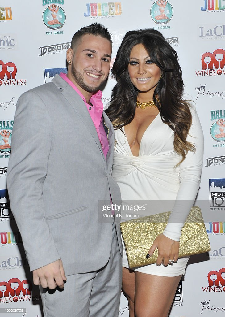 Corey Eps and Tracy Dimarco attend 'Jerseylicious' Season 5 Premiere Party at Midtown Sutton on January 28, 2013 in New York City.