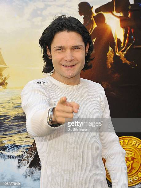 Corey Feldman arrives at 'The Goonies' 25th Anniversary Treasure Hunt at Warner Bros Studios on October 27 2010 in Burbank California