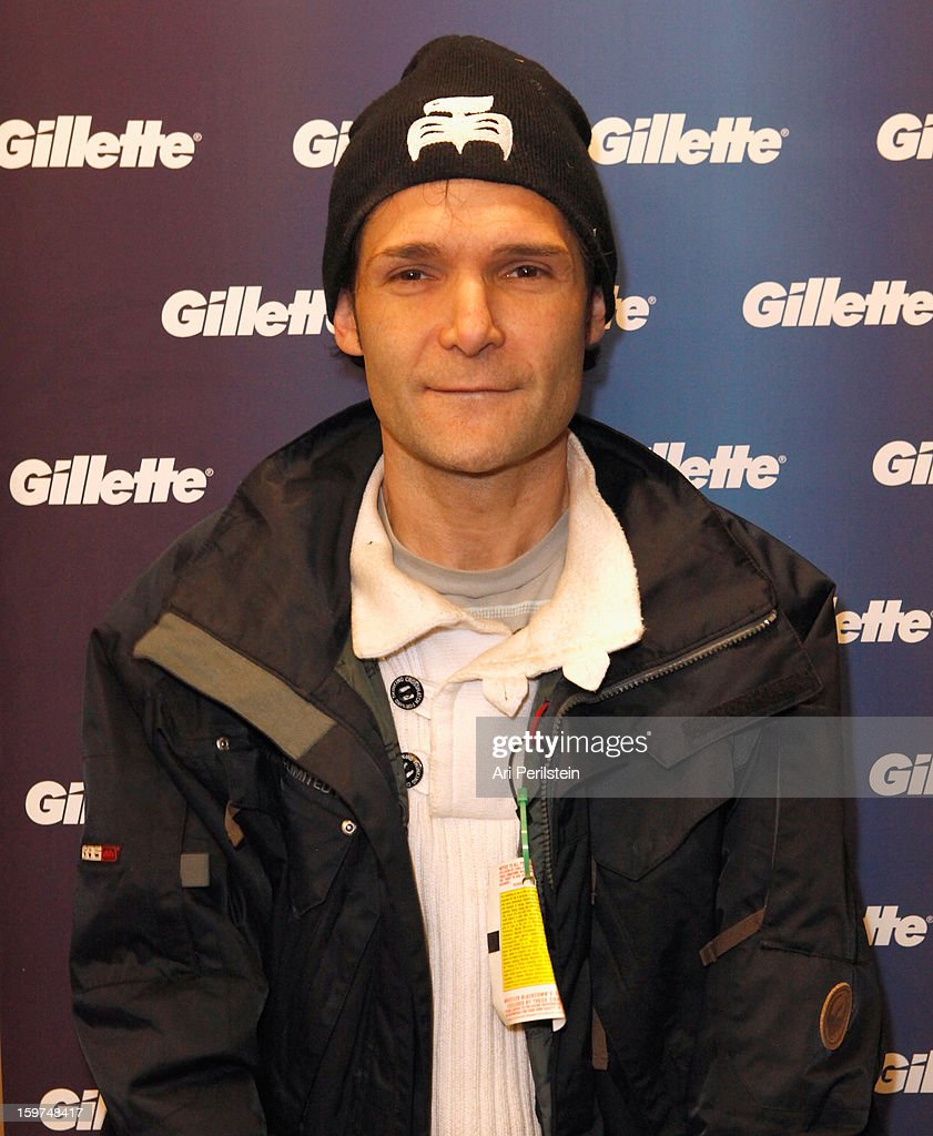 <a gi-track='captionPersonalityLinkClicked' href=/galleries/search?phrase=Corey+Feldman&family=editorial&specificpeople=175941 ng-click='$event.stopPropagation()'>Corey Feldman</a> attends Gillette Ask Couples at Sundance to 'Kiss & Tell' if They Prefer Stubble or Smooth Shaven - Day 2 on January 19, 2013 in Park City, Utah.