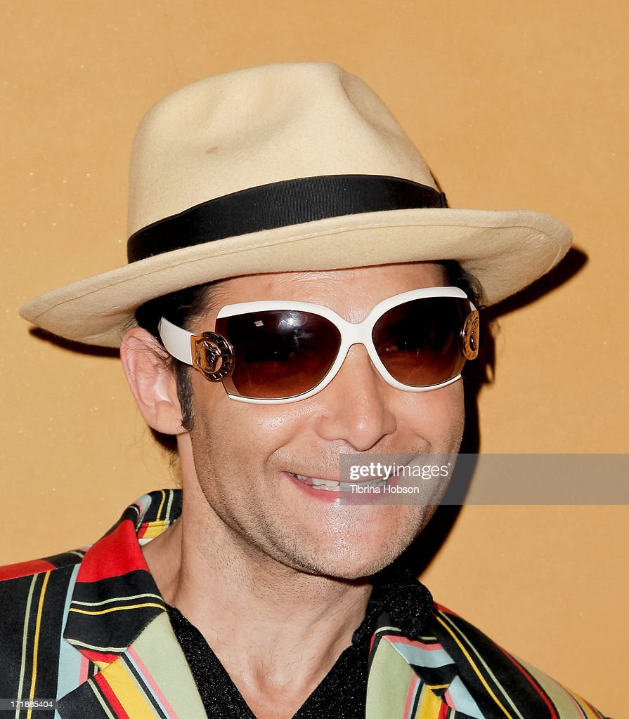 <a gi-track='captionPersonalityLinkClicked' href=/galleries/search?phrase=Corey+Feldman&family=editorial&specificpeople=175941 ng-click='$event.stopPropagation()'>Corey Feldman</a> attends the launch of former Pussycat Doll Kaya Jones's Hollywood Doll Boutique at the Iconic Sweet! on June 28, 2013 in Hollywood, California.