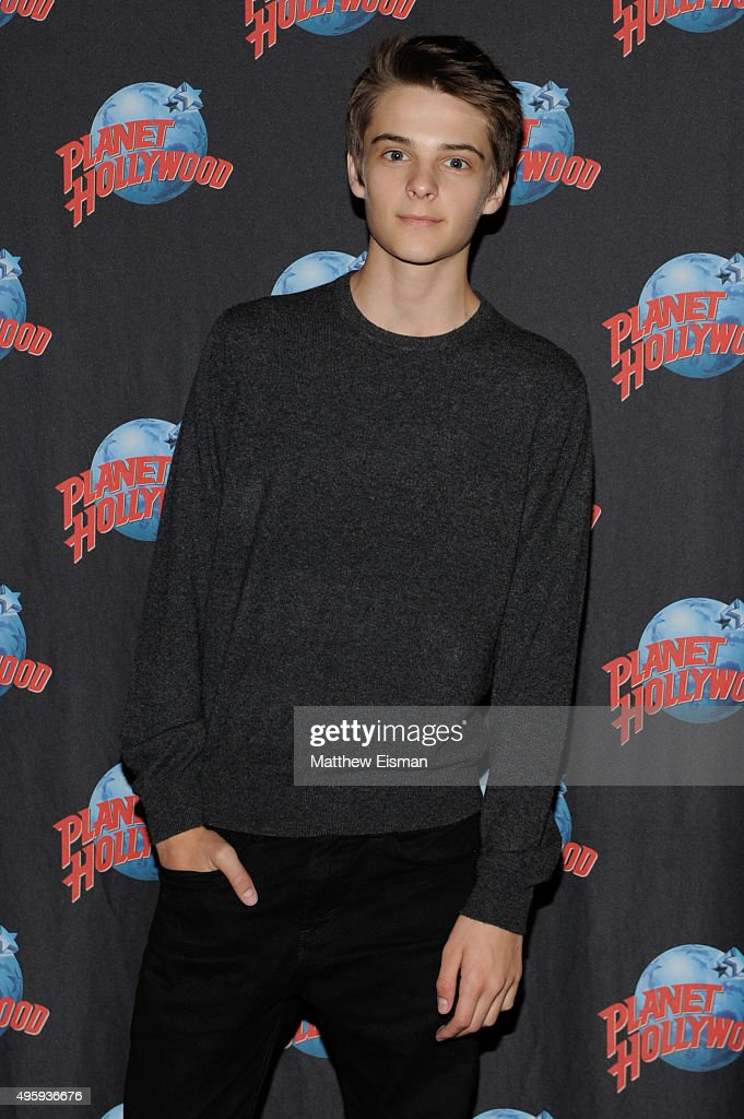 Corey Fogelmanis of 'Girl Meets World' visits Planet Hollywood Times Square on November 5, 2015 in New York City.
