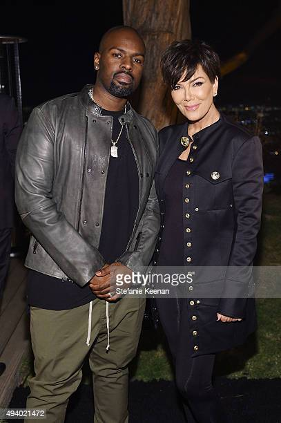 Corey Gamble and Kris Jenner attend Olivier Rousteing Beats Celebrate In Los Angeles at Private Residence on October 23 2015 in Los Angeles California