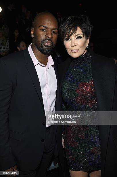 Corey Gamble and Kris Jenner attend the 2015 Victoria's Secret Fashion Show at Lexington Avenue Armory on November 10 2015 in New York City