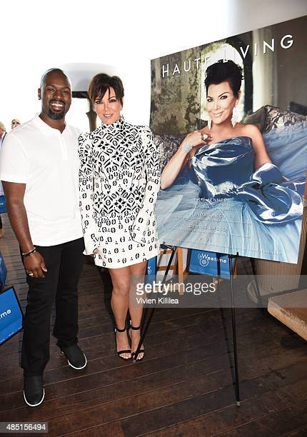Corey Gamble and Kris Jenner attend Westime Celebrates Kris Jenner's Haute Living Cover at Nobu Malibu on August 24 2015 in Malibu California