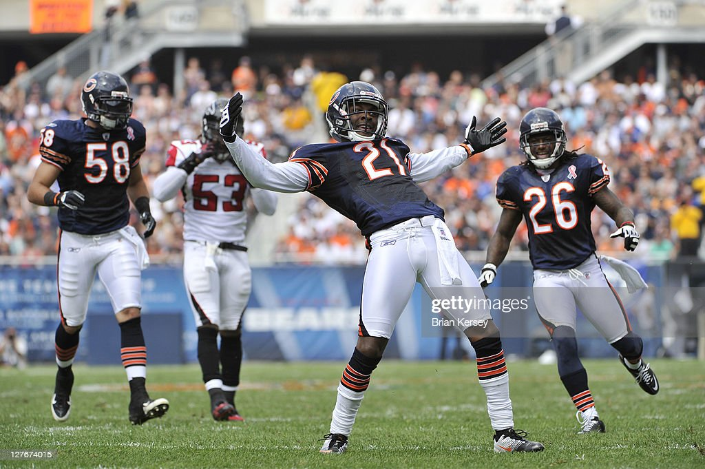 <a gi-track='captionPersonalityLinkClicked' href=/galleries/search?phrase=Corey+Graham&family=editorial&specificpeople=4294650 ng-click='$event.stopPropagation()'>Corey Graham</a> #21 of the Chicago Bears reacts after making a tackle during the second quarter against the Atlanta Falcons at Soldier Field on September 11, 2011 in Chicago, Illinois. The Bears defeated the Falcons 30-12.
