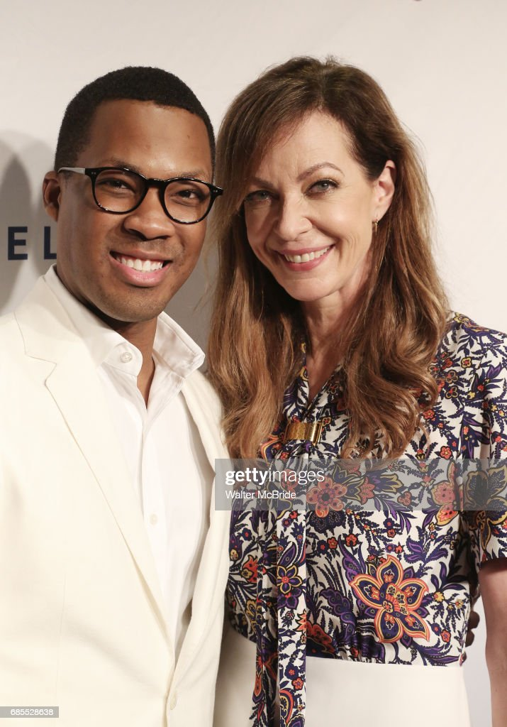 Corey Hawkins and Allison Janney attend the 83rd Annual Drama League Awards Ceremony at Marriott Marquis Times Square on May 19, 2017 in New York City.