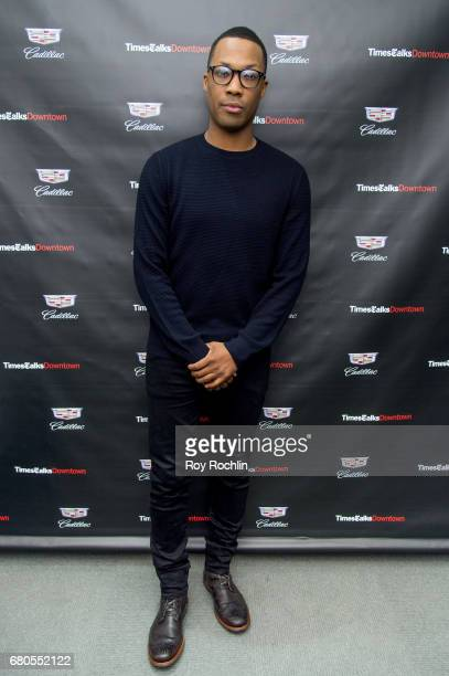 Corey Hawkins discusses 'Six Degrees Of Separation' with TimesTalks at Cadillac House on May 8 2017 in New York City