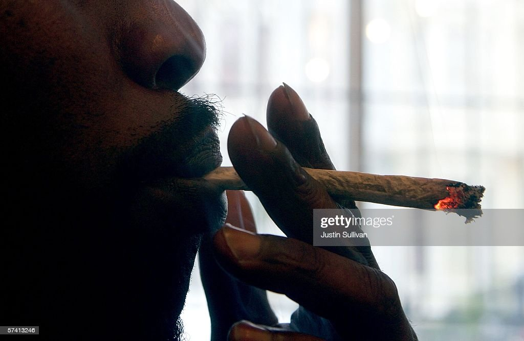 Corey Kelly, who is HIV positive, smokes medicinal marijuana at the Alternative Herbal Health Services cannabis dispensary April 24, 2006 in San Francisco, California. The Food and Drug Administration issued a statement last week rejecting the use of medical marijuana declaring that there is no scientific evidence supporting use of the drug for medical treatment.