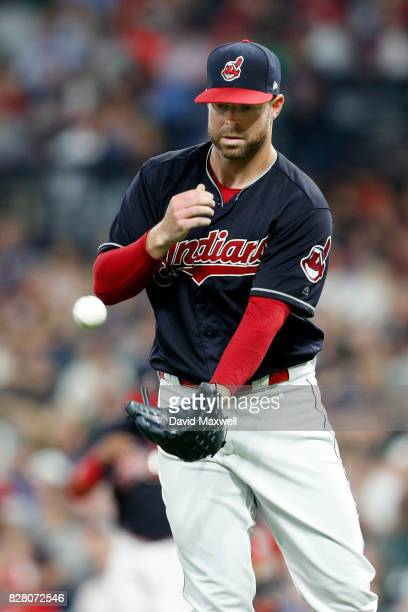 Corey Kluber of the Cleveland Indians pitches against the New York Yankees in the eighth inning at Progressive Field on August 3 2017 in Cleveland...