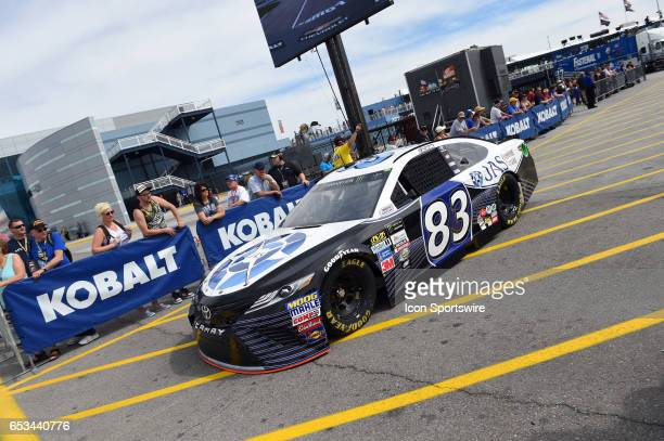Corey LaJoie BK Racing Toyota Camry during Stratosphere Pole Day for the Kobalt 400 NASCAR Monster Energy Cup Series race on March 10 2017 at Las...