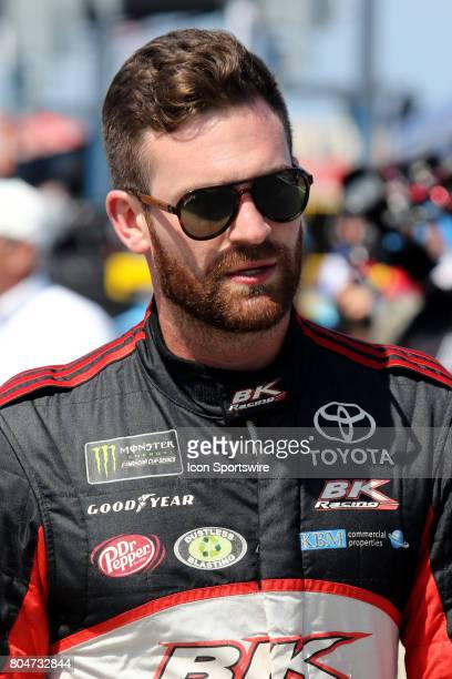 Corey Lajoie driver of the Dr Pepper Toyota during qualifying for the Coke Zero 400 Monster Energy Cup Series race on June 30 at Daytona...