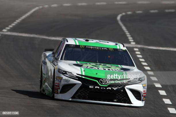 Corey LaJoie driver of the Dustless Blasting Toyota practices for the Monster Energy NASCAR Cup Series O'Reilly Auto Parts 500 at Texas Motor...