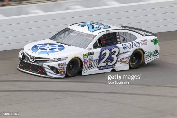 Corey LaJoie driver of the JAS Expedited Trucking Toyota races during the Monster Energy NASCAR Cup Series Pure Michigan 400 race on August 13 2017...