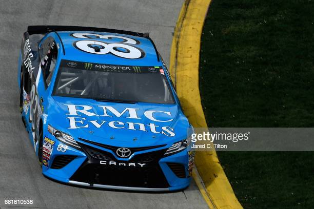 Corey LaJoie driver of the RMC Events Toyota practices for the Monster Energy NASCAR Cup Series STP 500 at Martinsville Speedway on March 31 2017 in...