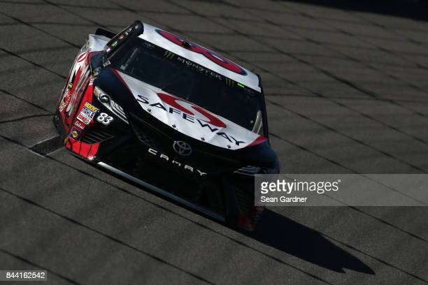 Corey LaJoie driver of the Safeway/LaBella Hair Design Toyota practices for the Monster Energy NASCAR Cup Series Federated Auto Parts 400 at Richmond...
