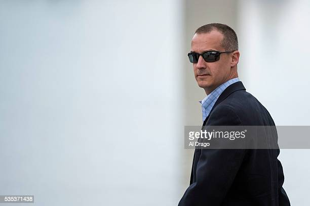 STATES MAY 29 Corey Lewandowski campaign manager for Republican presidential candidate Donald Trump arrives on the National Mall during the Rolling...