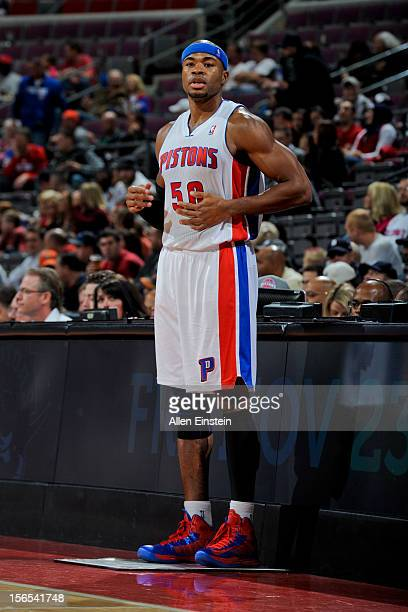 Corey Maggette of the Detroit Pistons checks into a game against the Orlando Magic on November 16 2012 at The Palace of Auburn Hills in Auburn Hills...