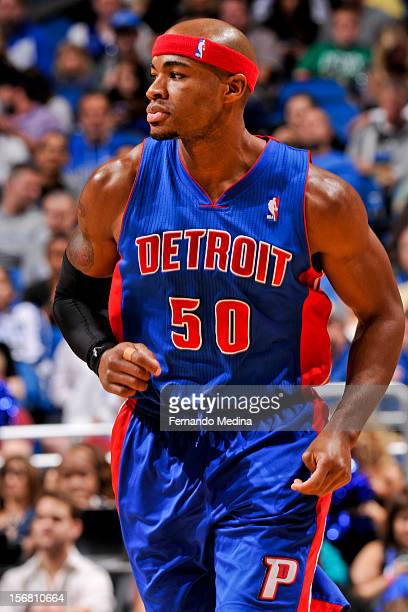 Corey Maggette of the Detroit Pistons plays against the Orlando Magic on November 21 2012 at Amway Center in Orlando Florida NOTE TO USER User...