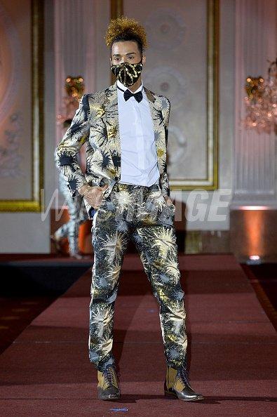 Corey Mays walks the runway...