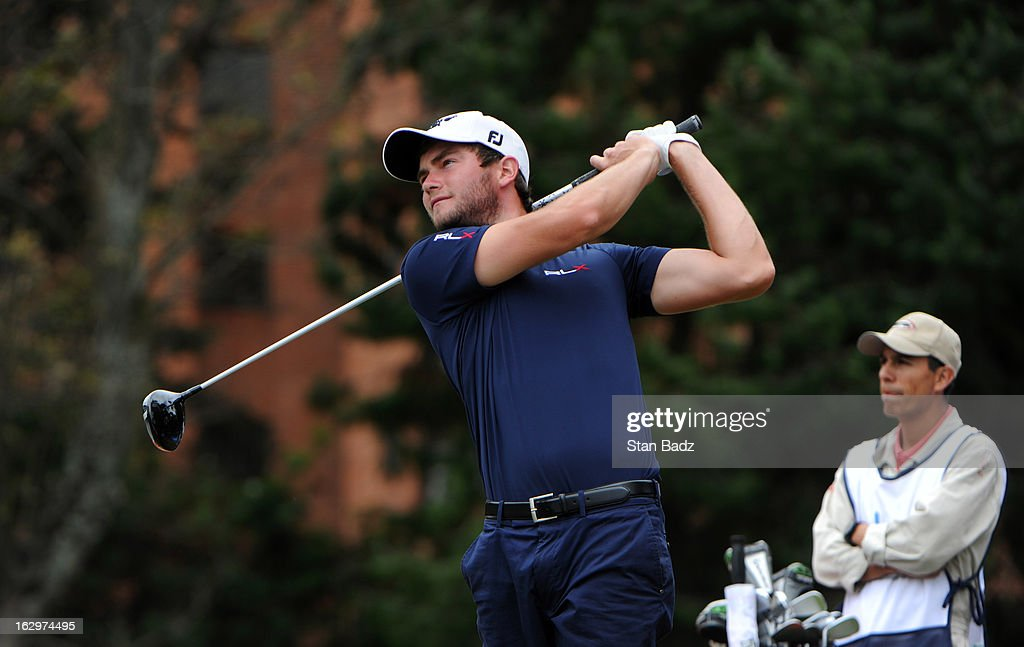 Corey Nagy hits a drive on the eighth hole during the third round of the Colombia Championship at Country Club de Bogota on March 2, 2013 in Bogota, Colombia.