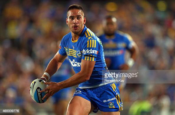 Corey Norman of the Eels in action during the round one NRL match between the Parramatta Eels and the Manly Sea Eagles at Pirtek Stadium on March 6...