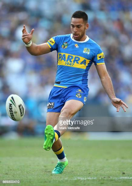 Corey Norman of the Eels in action during the round seven NRL match between the Parramatta Eels and the Wests Tigers at ANZ Stadium on April 17 2017...