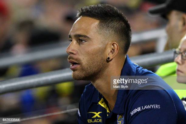 Corey Norman of the Eels looks on during the NRL Trial match between the Penrith Panthers and Parramatta Eels at Pepper Stadium on February 18 2017...