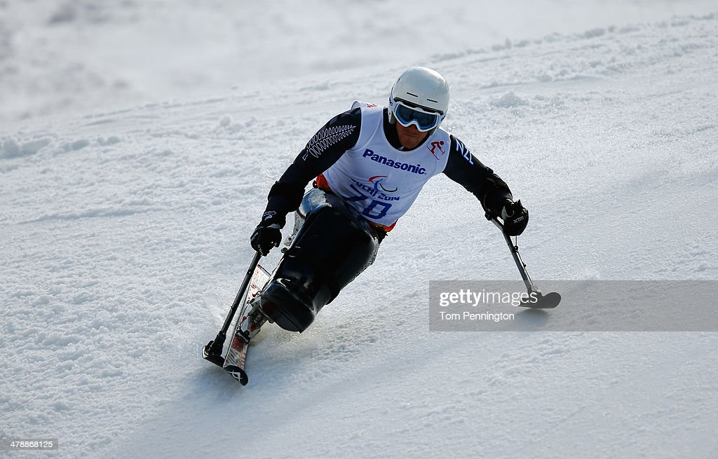 Corey Peters of New Zealand competes in the Men's Giant Slalom Sitting during day eight of the Sochi 2014 Paralympic Winter Games at Rosa Khutor Alpine Center on March 15, 2014 in Sochi, Russia.