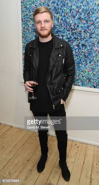 Corey Sanders attends a private view of exhibition 'Morphosis' during the official launch of the West Contemporary gallery on April 19 2017 in London...