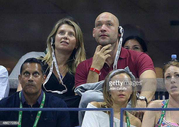 Corey Stoll and his wife Nadia Bowers attend day three of the 2015 US Open at USTA Billie Jean King National Tennis Center on September 2 2015 in the...