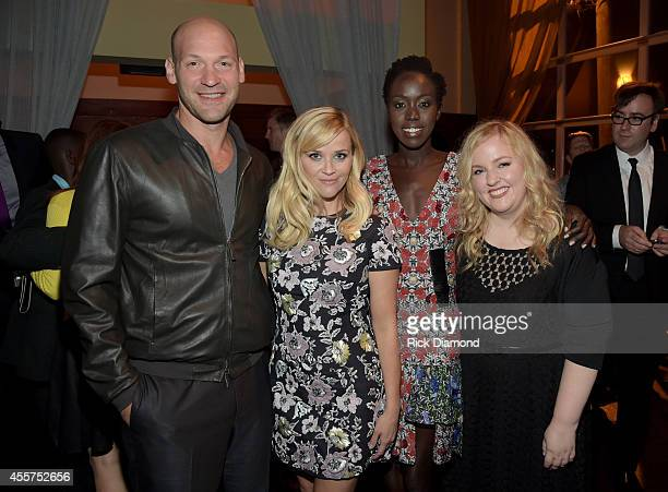 Corey Stoll Reese Witherspoon Kuoth Wiel and Sarah Baker attend 'The Good Lie' after party at Cabana on September 19 2014 in Nashville Tennessee