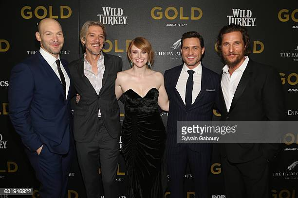Corey Stoll Stephen Gaghan Bryce Dallas Howard Edgar Ramirez and Matthew McConaughey attends TWCDimension with Popular Mechanics The Palm Court Wild...