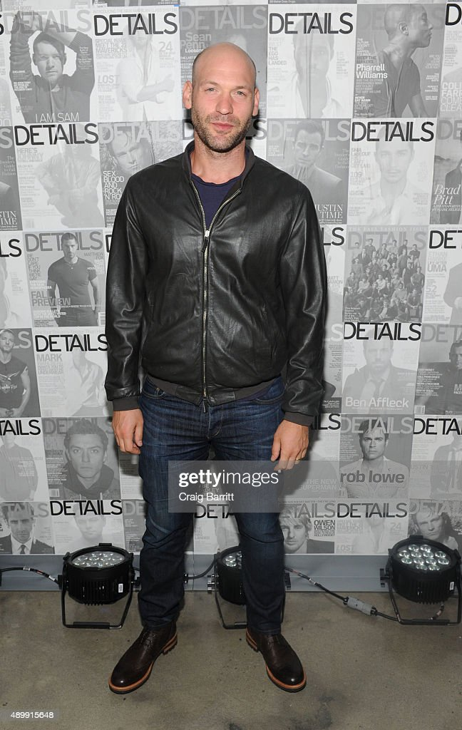 Corey Stroll attends the DETAILS magazine 15th anniversary celebration on September 24, 2015 in New York City.