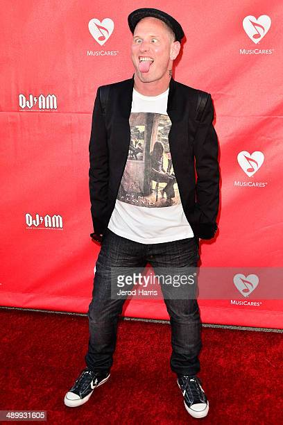 Corey Taylor arrives at the 2014 MusiCares MAP Fund Benefit Concert at Club Nokia on May 12 2014 in Los Angeles California